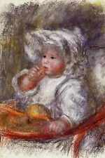 Métal signe Jean Renoir dans un fauteuil également connu comme enfant avec un biscuit 1895 A4 12x