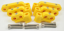 New Yellow Ignition Lead Wire Separators with Horizontal Mounts Suit 7-9mm