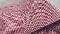 PETER MILLAR Nanoluxe EasyCare Men's XL Red Houndstooth Cotton Dress Shirt