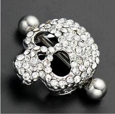 Piercing joyas nipple nippelpiercing piercing anillo calavera Skull pedrería acero