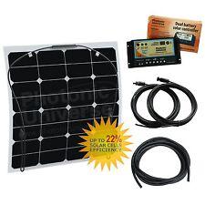 50W Kit de carga solar flexible etilenotetrafluoretileno Dual Autocaravana, Caravana, Camper, barco/yate