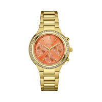 Caravelle New York Women's 44L218 Quartz Crystal Melon Dial Gold-Tone 36mm Watch