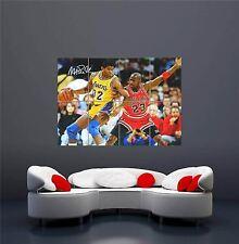 Michael jordan magic johnson bulls la lakers nba giant art print poster OZ329