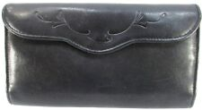 Buxton Velvet Touch Leather Cowhide Women Wallet Black With Change Pouch
