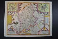 Vintage decorative sheet map of Stafford Staffordshire John Speede 1610