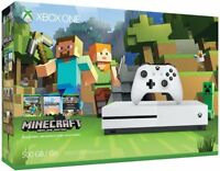 Microsoft Xbox One S Minecraft Favorites Bundle 500GB White Console NEW