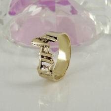 Markenlose echtem Edelmetall-Ringe ohne Steine aus 16,8 mm (Damen) Ø 53