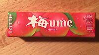 "Lotte, Chewing Gum, ""UME GUM"" 9 gum sticks, Japan Long Seller, Candy"