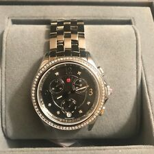 Michele Belmore Chrono Diamond Black Diamond Dial Watch MWW29B000004