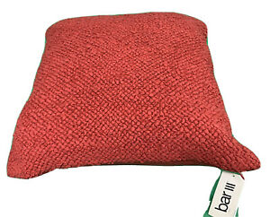 """Macy's Mesa Bar III Woven Decorative 20""""x20"""" Red Pillow Made In India With Tag"""