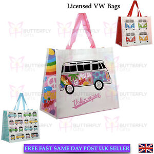 Licensed VW VolkswagenRetro Campervan VWT1 Camper Bus Happy Love Shopping Bag