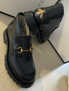 NIB $1750 Gucci Men's Cordovan Lux Leather Ankle Boots Shoes Black 10 US / 9 UK