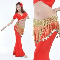 Belly Dance Beads Coins Bells Hip Scarf Belt 8 Styles/Colors