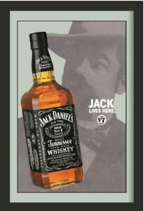 Jack Daniels Bottle Mirror Wall Mirror, BAR, Party Basement, BAR,
