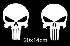 2x The Punisher Skull Sticker CAR Rear window Tuning Bonnet