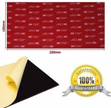 BLACK 3M VHB Acrylic Foam PAD Tape ~ 100mm x 200mm x 1mm Thick ~ Double Sided