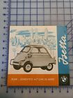 1958 BMW Isetta Brochure Folder Original USA