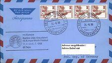 Dt. Schiffspost Schiff MS EUROPA Kreuzfahrt 1988 Karibik-USA 12. Musik-Festival