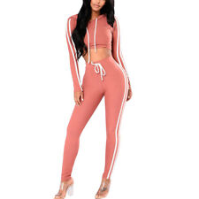 Women Casual Pullover Hoodie Sweatpants Leggings 2 Piece Sport Tracksuit Outfits