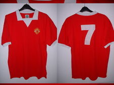 Manchester United 7 George Best Retro S M XL Shirt Jersey Football New