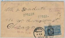 UNITED  STATES -  SPECIAL DELIVERY STAMP used on COVER as POSTAGE DUE - CYCLING