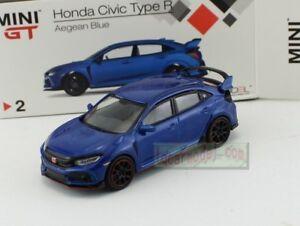1:64 TSM MINI GT Honda CIVIC TYPE R FK8 Blue LHD MGT00002-L Diecast