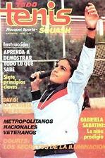 GABRIELA SABATINI Rare Magazine Guillermo Vilas Todo Tenis Argentina 1983