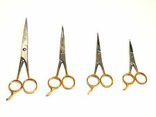 4 PCS BARBER HAIR CUTTING SCISSORS VARIETY PACK ICE TEMPERED STAINLESS STEEL