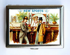 Victorian Men Cigarette Case Wallet Business Card vintage cigar label mustache