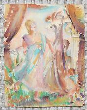 Aquarelle originale de MAURICE JEAN MICHA - 1930 - Fauve - Belgique - 5