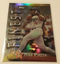 1997 Topps Mike Piazza Mystery Finest Silver Refractor Insert Dodgers HOF Legend
