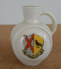 Crested Ware Tuscan China Jug Aberdovey  Coat of Arms 7.5 cm's tall