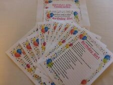 HOW WELL DO YOU KNOW THE BIRTHDAY GIRL QUIZ PACK  - GREAT FUN FOR PARTIES!