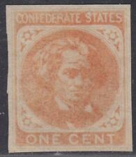 USA Scott #CSA14 1ct Confederate Mint OG Never Hinged XF four margin CV $95