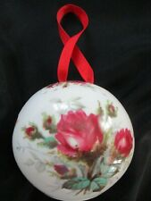 "Vintage HAMMERSLEY Pomander Potpourri Ball ""ROSES"" Bone China Made in England"