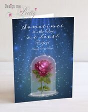 BEAUTY AND THE BEAST A5 Anniversary Card - Girlfriend Wife - DISNEY