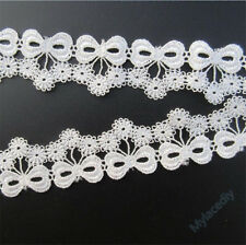 Wholesale 13yards/lot 2.8cm White Embroidered Lace Edge Trim Ribbon Sewing Craft