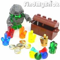 R4 Lego 6 Crystals Treasure Chest Coins 5 Diamonds & Rock Monster Boulderax NEW