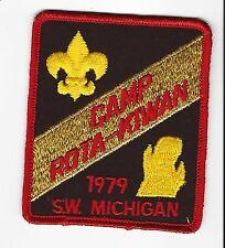 BOY SCOUT  CAMP ROTA KIWAN  1979  S.W. MICHIGAN CNCL