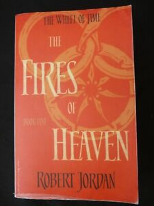 """Book. The Wheel of Time Book 5 The Fires of Heaven by Robert Jordan.""""Signed"""""""