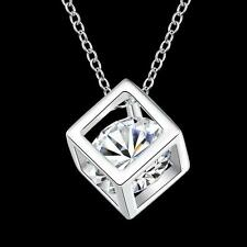 China Wholesale 925 Silver Filled Rubik Crystal Necklace Fashion Jewellery Gifts