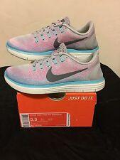 New Womens Nike Free RN Run Distance Running Shoes 827116-006 Sz 5.5 wolf grey