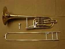 "FE OLDS SUPER S23 DOUBLE TRIGGER BASS TROMBONE 10"" BELL - FREE SHIP IN USA ONLY"