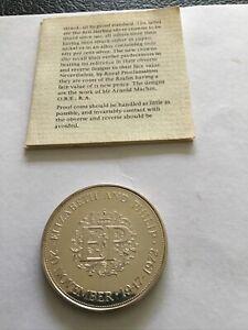 Elizabeth And Philip 20 November 1947-1972 Commemorative Coin Superb