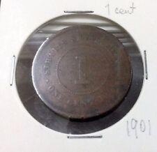 STRAITS SETTLEMENTS  QUEEN VICTORIA  1 cent  1901