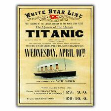 Titanic Retro Vintage Plaque Ship Boat Advertising Poster Wall Decor Metal SIGN