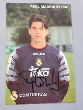 PEDRO CONTRERAS Real Madrid firmado autógrafo original 10 x 15