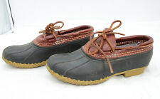 Bean Boots by L.L.Bean USA Womens Sz 8 Work Leather Rubber Mocs Shoes Slip Ons