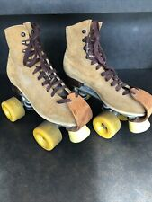 Vintage Sure Grip Jogger Roller Skates Womens 6 Brown Suede Leather
