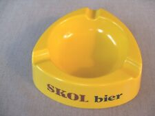 Vintage, triangular Skol bier beer yellow ashtray Made in Italy
